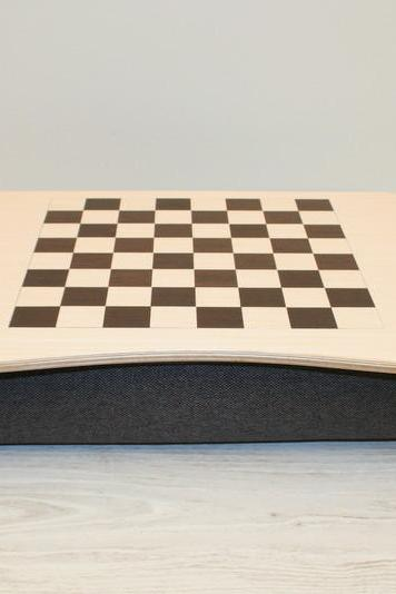 Wooden Laptop Bed Tray / iPad Table / Laptop Stand 'Chess`N Checkers'