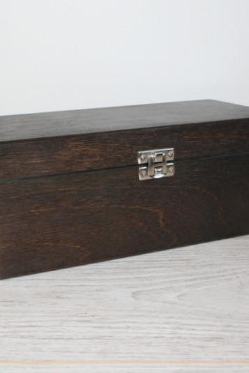 Wooden Gift and Keepsake Box 9.05 x 3.54 x 3.54 inch Dark Brown