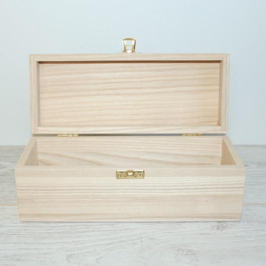 Wooden Gift and Keepsake Box 22.5 x 8 x 8 cm