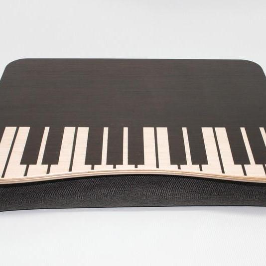 Wooden Laptop Bed Tray / iPad Table / Laptop Stand Piano
